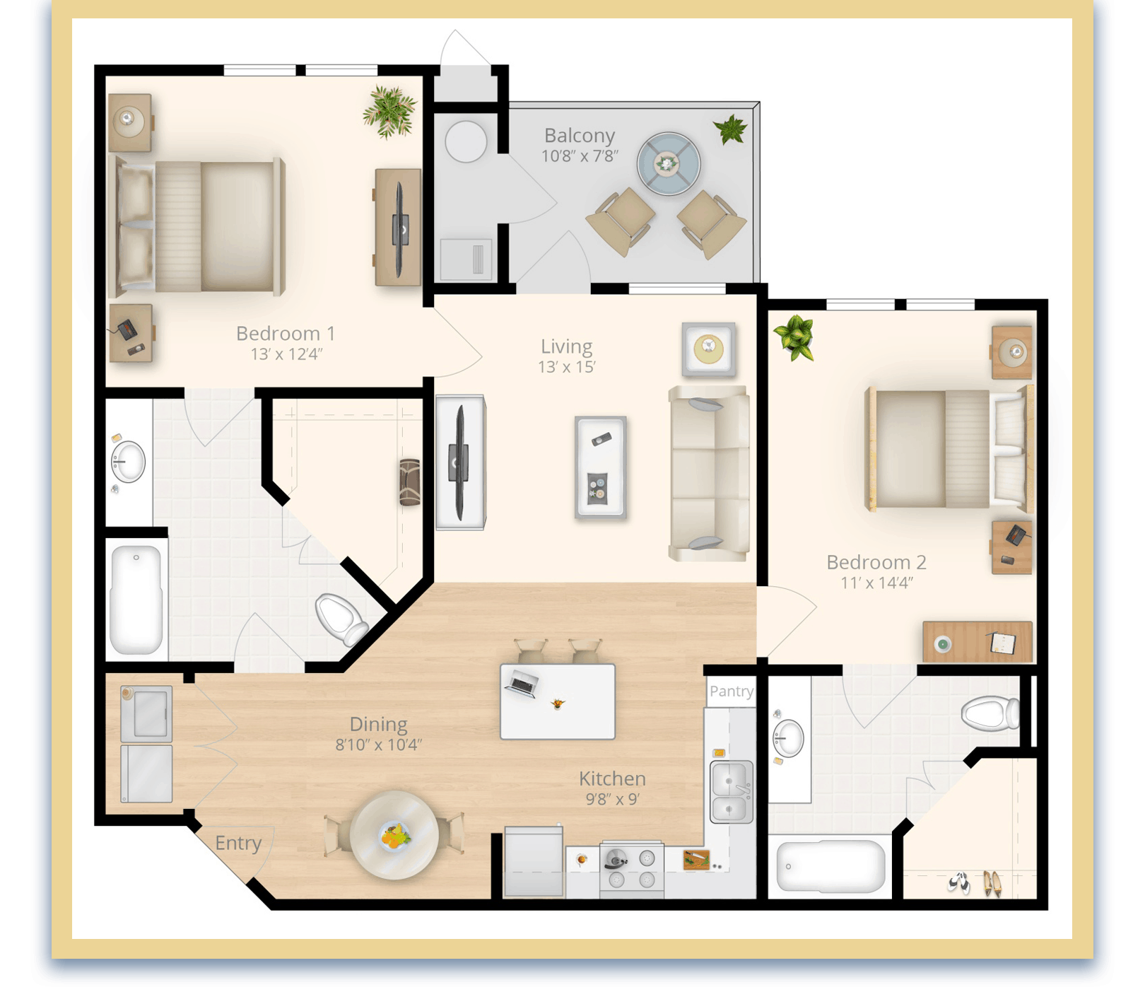 two bedroom apartments in waldorf