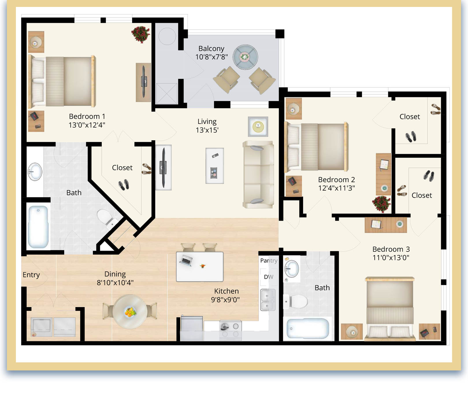 three bedroom apartments in waldorf