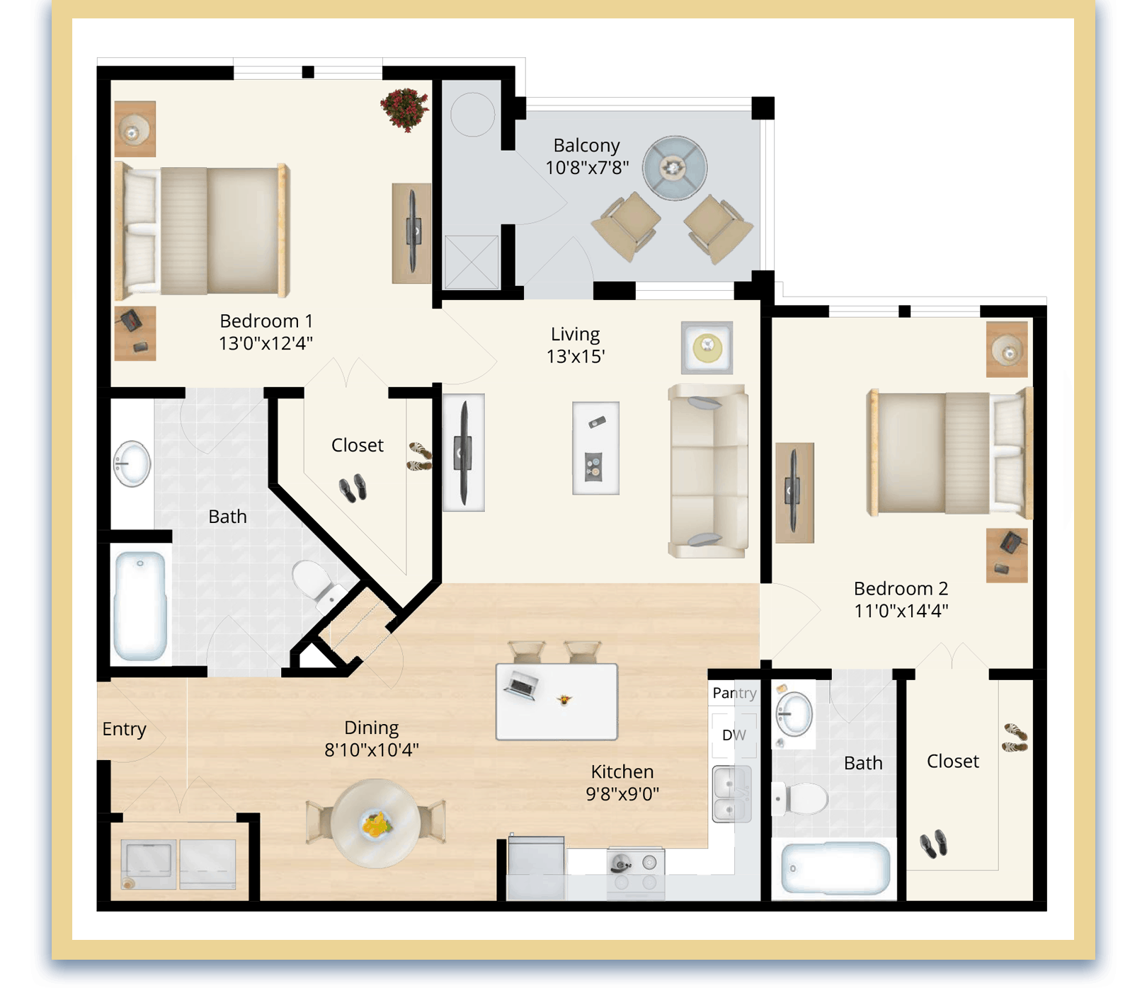 two bedroom apartments charles county