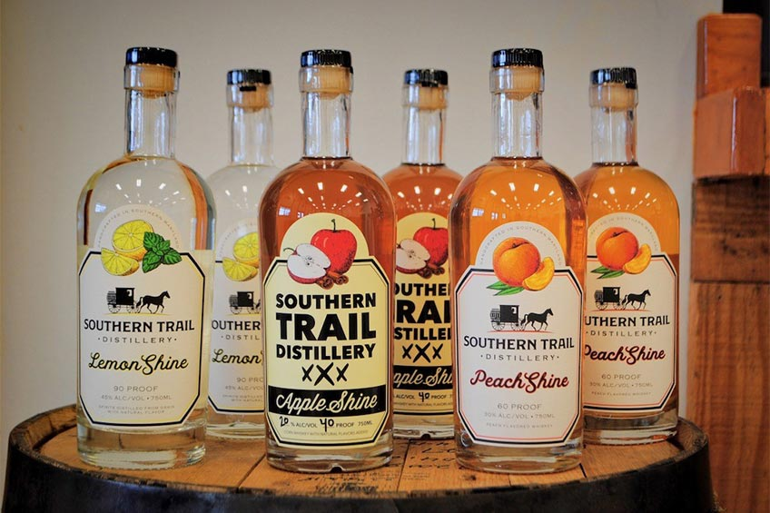 spirits from the southern trail distillery in Southern Maryland
