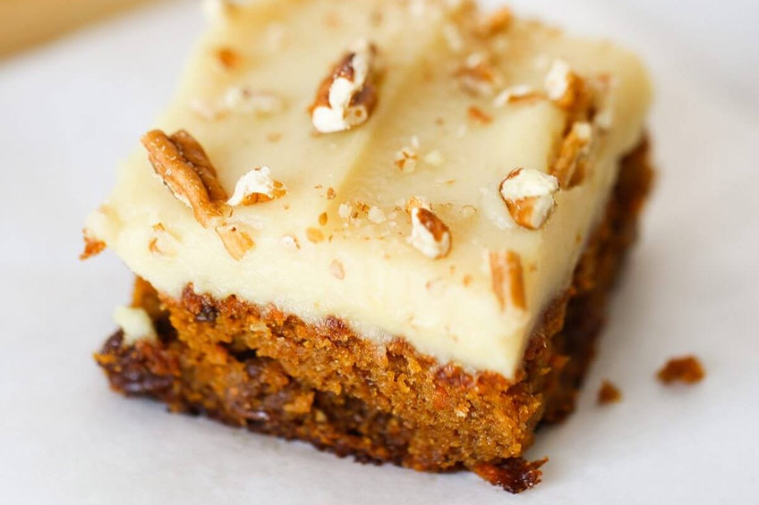 piece of carrot cake