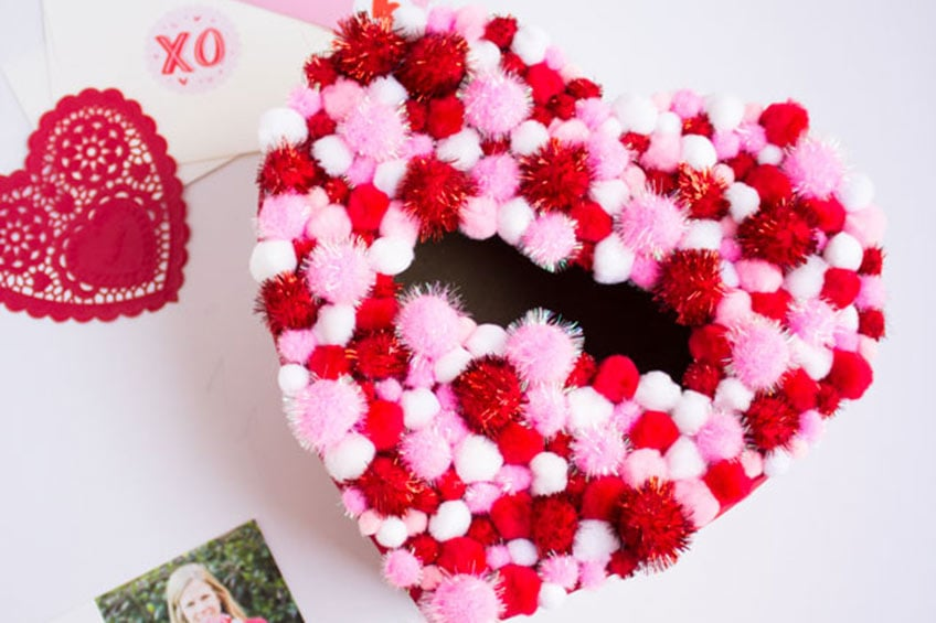 pom pom valentine's day box