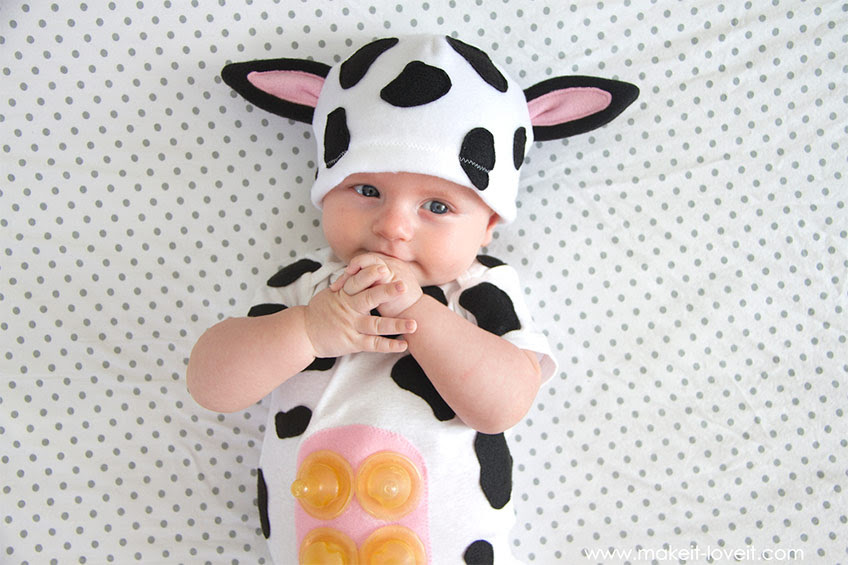 baby dressed as cow