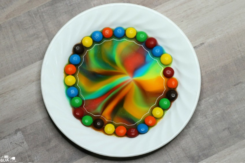 M&Ms on a plate