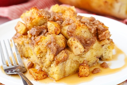cinnamon apple french toast casserole