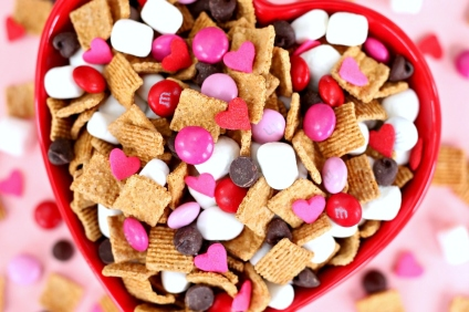 valentine's day s'mores snack mix