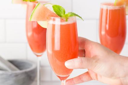 watermelon mint mimosa