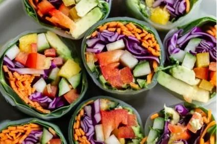 summer vegetable rolls