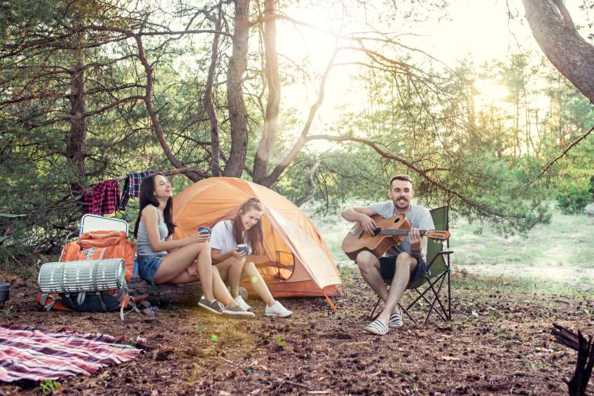 people camping